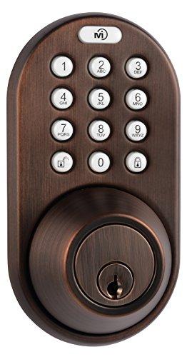 MiLocks DF-02OB Electronic Keyless Entry Touchpad Deadbolt Door Lock