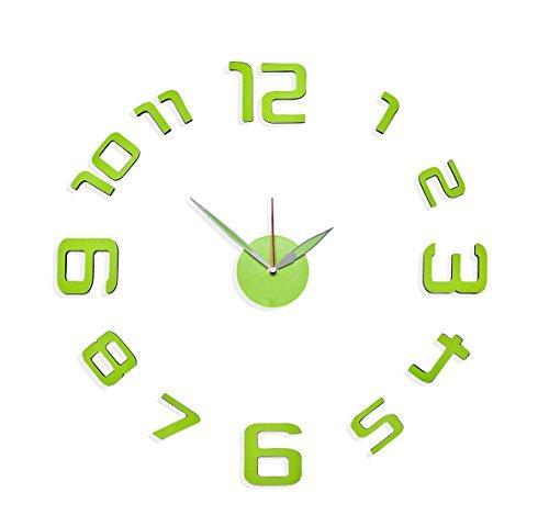 lime green clock