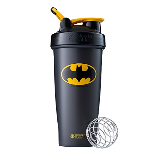 BlenderBottle Justice League Superhero Classic 28-Ounce Shaker Bottle, Batman 28 Ounce Blender Bottle
