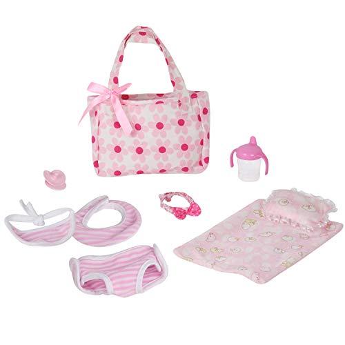 Huang Cheng Toys Set of 9 Doll Clothes Accessories Doll Pacifier Bib Handbag Nursing Bottle Underwear Hairband Pillow Sheet