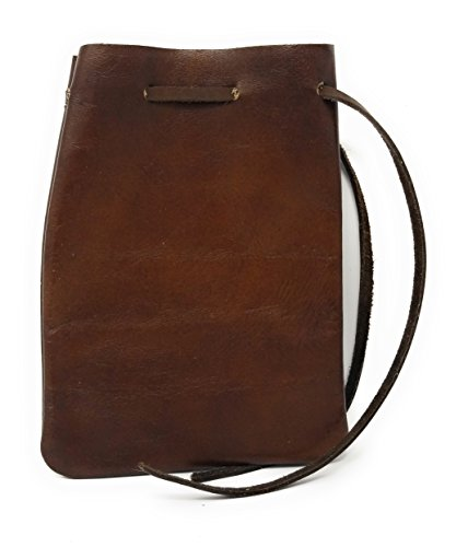 Leather Drawstring Pouch, Coin Bag, Medicine, Tobacco Pouch, Medieval Reenactment, Pouch Size - 8.5