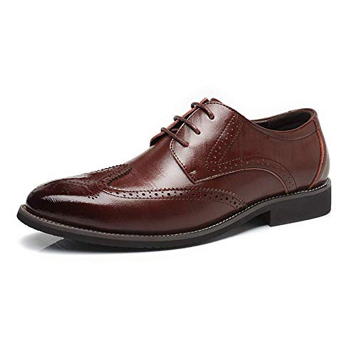 pelle Oudan 44 Oxfords Eu Colore Marrone Sculpture Hollow Taglia up in Scarpe vera uomo E Business per traspirante foderato 2018 Wingtip Lace Marrone qRx7Rw1rIT