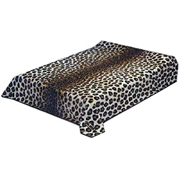Solaron Leopard Print Grey and Black Mink Blanket (Queen) best