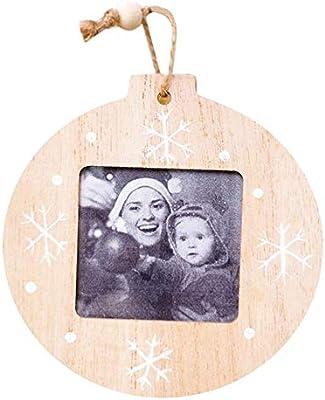 Marcos Para Fotos De Arbol De Navidad.4pcs Marcos De Fotos De Navidad Para Las Paredes O Colgantes De Madera Marcos Innovadoras Decoraciones Colgantes Diy Madera Colgante Arbol De Navidad
