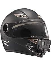 Motorcycle Helmet Chin Swivel Mount Kit for GoPro Hero 8, Hero 7, (2018), 6 5 4 3, Hero Black, Session, Xiaomi Yi, SJCAM, and Other Action Camera