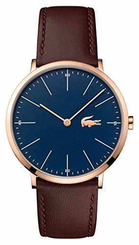 Lacoste Men's Quartz Gold and Leather Watch, Color:Brown (Model: 2010871)