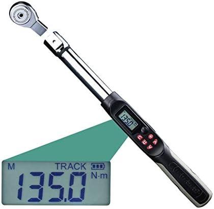 高精度デジタルトルクレンチ、1-340N.Mアジャスタブルプロフェッショナル電子デジタルトルクレンチ,1/2in17to340N.m