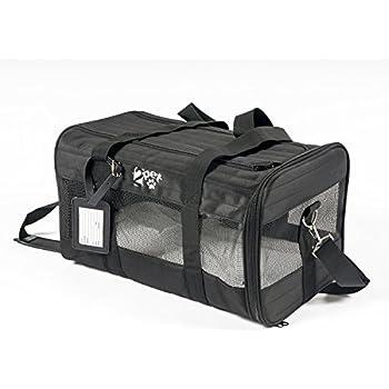 Amazon Com Sherpa Delta Pet Carrier Medium Black Soft