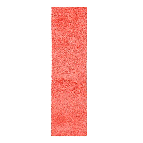 Blue Nile Mills Hand Woven Shag Rug 2.25x13' -Spiced Coral