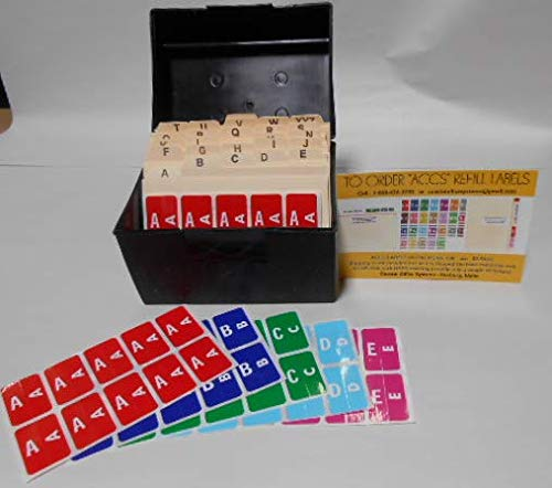 - Smead ACCS Color Code Filing System - Starter KIT - Recipe Box, A-Z Guides, Alpha Labels (ACCS Kit)
