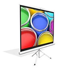 PYLE-HOME PRJTP72 Universal Floor Standing Portable Roll-Down Tripod Projector Screen, Matte White Surface, 50 x 66.9-Inch