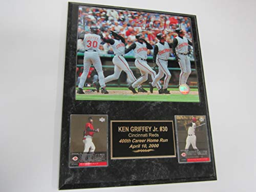 Reds Ken Griffey Jr 2 Card Collector Plaque w/8x10 Photo 400th Home Run Sold Out ED ()