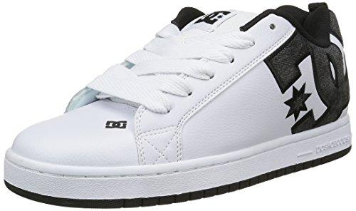 DC Shoes Court Graffik SE - Zapatillas para hombre Blanco (White / Grey / Black)