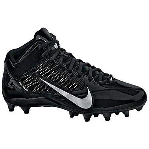 Nike Mens Alpha Pro Td Black Metallic Silver Football Cleats Us 14