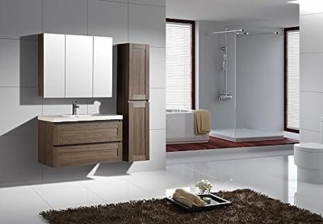 Bagno Legno E Grigio : Jindoli mobile bagno semplice sottolavello con 2 cassetti aspetto