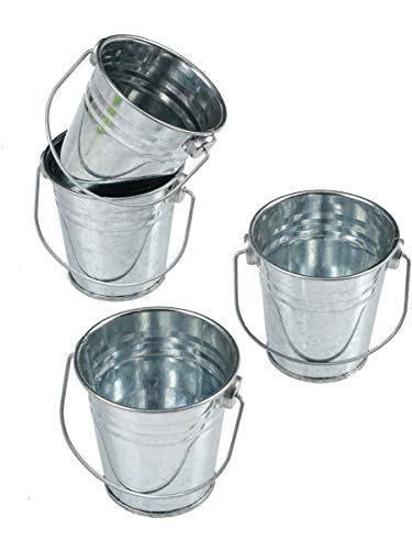 Mini Metal Buckets,Pack of 12 -