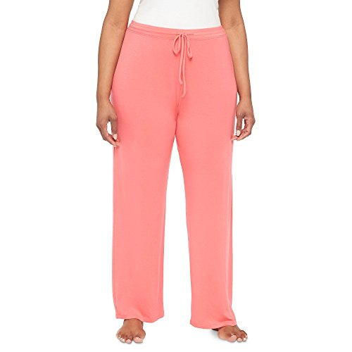 Gilligan & O'Malley Women's Plus Size Knit Sleep Pant or Knit Sleep Tank Top Playful Coral by (1X, Pajama Pant) by Gilligan & O'Malley