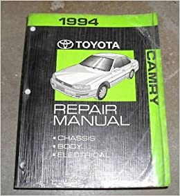 toyota camry 1994 service manual toyota repair workshop