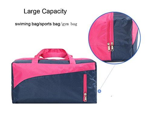 Swiming bolsa mojado seco separados Tote bolsa de mango bolsa de viaje para nadar playa gimnasio deportes impermeable gran capacidad, verde verde