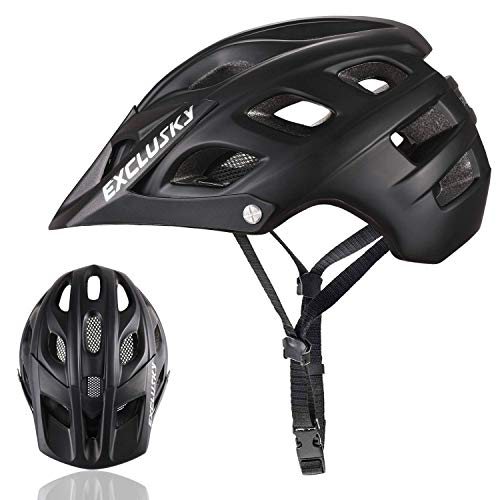 Exclusky Mountain Bike Helmet with Detachable Visor for Adult Women