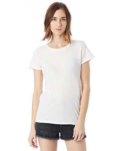 Alternative Womens Vintage Garment Dyed Crew T-Shirt Medium White