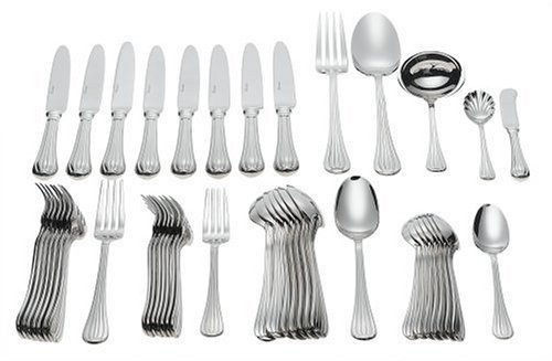 Set Meridian Flatware - Ricci Meridiani 45-Piece Stainless-Steel Flatware Set, Service for 8 by Ricci