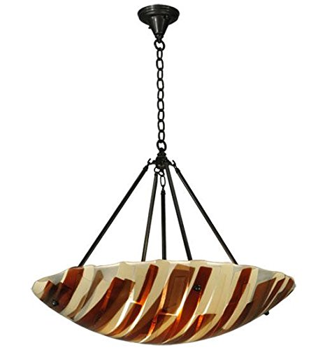 Meyda Tiffany 133229 Metro Fusion Marina Glass Inverted Pendant, 30.5
