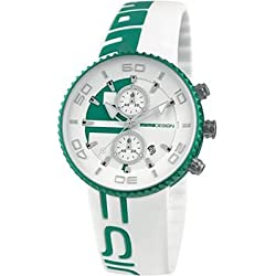 Momo Design Jet Aluminum Chronograph Green and White Silicone Mens Watch MD4187AL-41