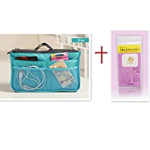 Womens Travel Handbag Nurse Insert Organizer Bag Pouch Purse Bag in Bag (Blue) XB01005