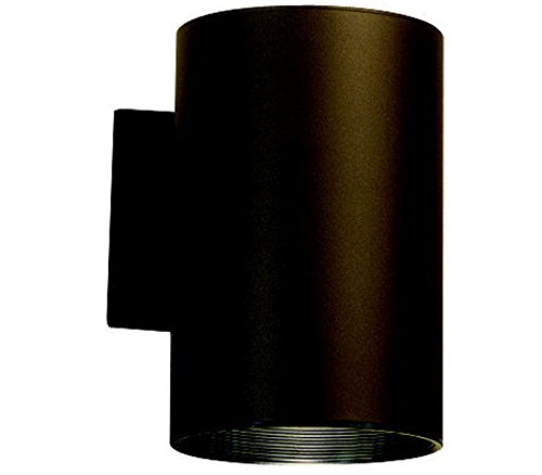 "Kichler 9236AZ Outdoor Cylinder Wall Mount Sconce DownLight, Bronze 1-Light (6"" W x 8"" H) 120 Watts"