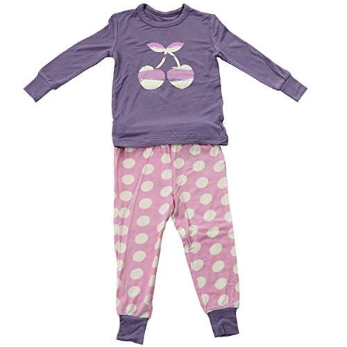 Silkberry Baby Bamboo Pajama Set Orchid Cherry 12-18 Months