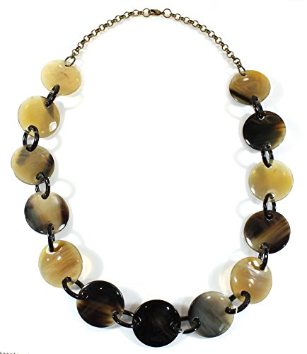 Style ARThouse Primal Instinct, Natural Water Buffalo Horn Chunky Necklace, 28 Inches ()