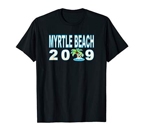 Myrtle Beach Sand Palm Tree Vacation 2019 T-Shirt