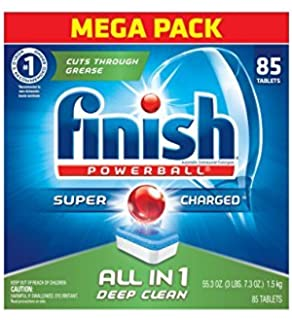 Finish All In 1 Powerball Fresh Dishwasher Detergent Tablets , 90 Tablets. 4