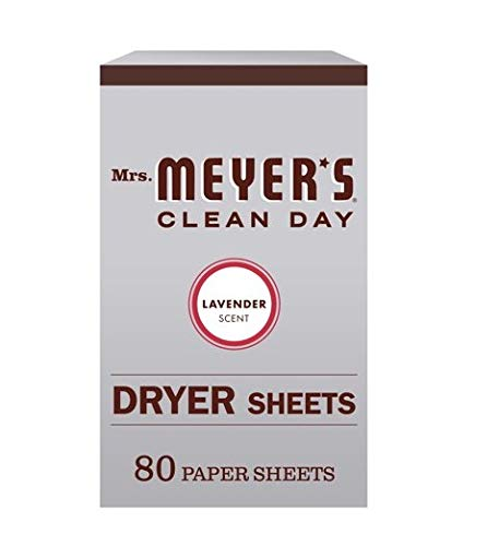 Mrs. Meyer's Clean Day Dryer Sheets, Lavender, 80 ct, Pack of 7