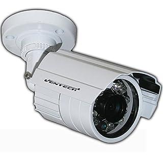 Ventech Metallic Bullet Security Camera with 24 ir led Day-Night Vision 65ft Cut CMOS Outdoor Indoor (Hybrid 4-in-1 CVI/TVI/AHD/960H Analog CVBS)