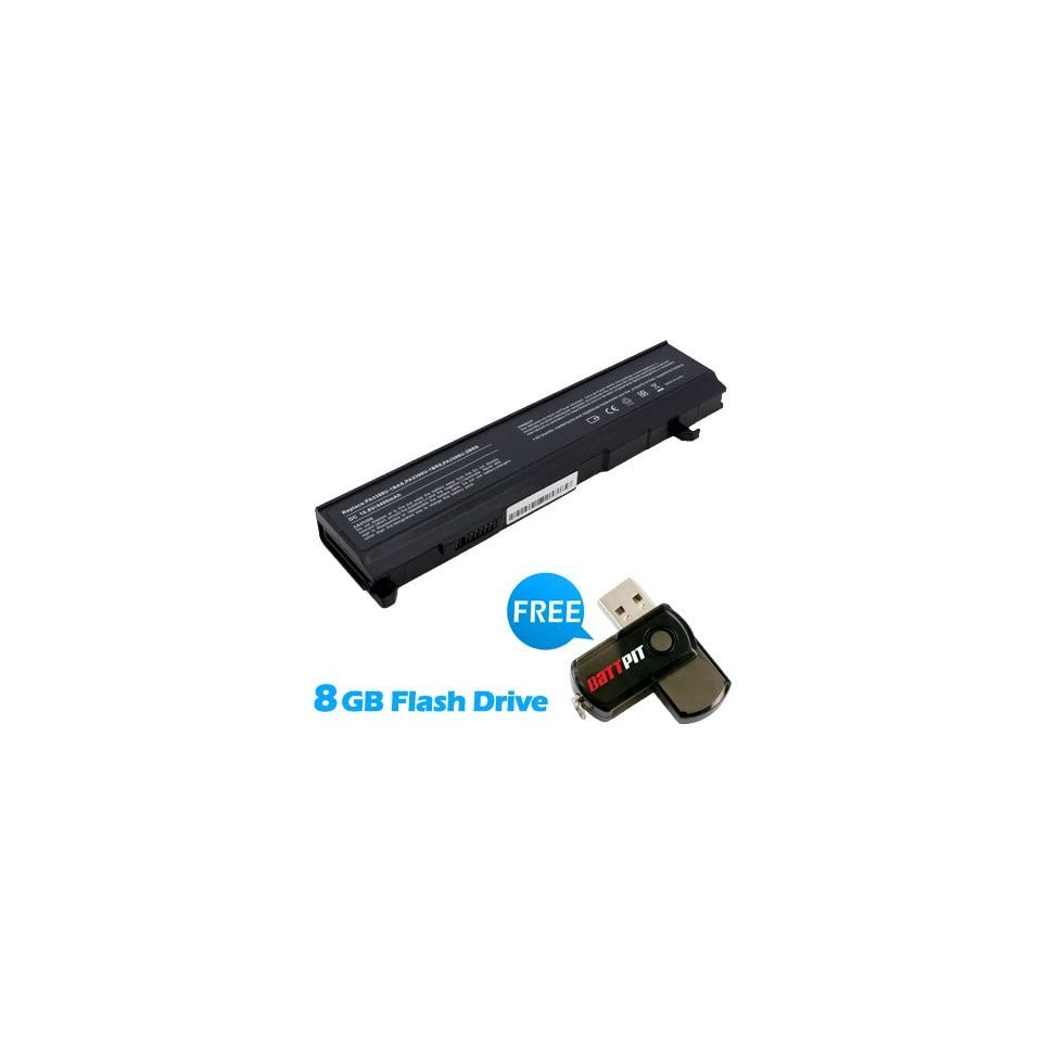 Battpit™ Laptop / Notebook Battery Replacement for Toshiba Equium A100 253 (4400 mAh) with FREE 8GB Battpit™ USB Flash Drive