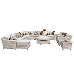 TK Classics Fairmont-12a 12 Piece Outdoor Wicker Patio Furniture Set
