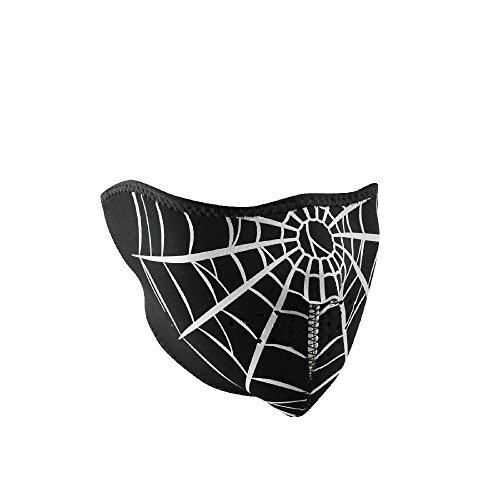 ZANheadgear Neoprene Spider Web Half Face - Motorcycle Spider