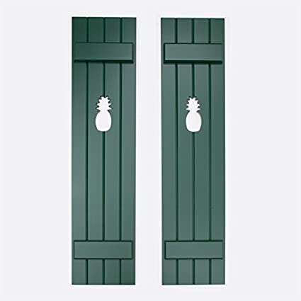 H Premium Wood Cedar 4 Board 2 Batten Shutter Pair