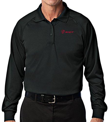 Mens Demon SRT Logo Long Sleeve Tactical Polo Shirt (Pocket Print), XL ()