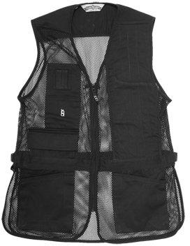 Bob-Allen Shooting Vest, Left Handed, Black, Medium