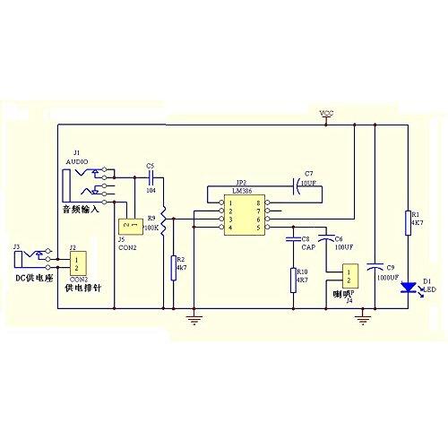 1PCS nouveau LM386 Super MINI Amplificateur Board 3V-12V À faire soi-même Kit Neuf