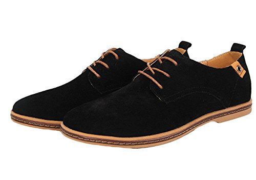 Les Appartements Du Roi Ma Mens Lacets Daim Oxford Chaussures Causales Noir