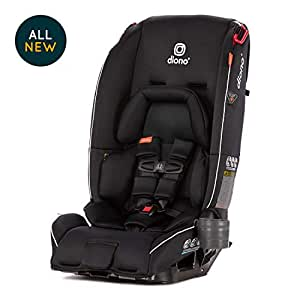 Diono Radian 3RX All-in-One Convertible Car Seat – Extended Rear-Facing 5-45 Pounds, Forward-Facing to 65 Pounds, Booster to 120 Pounds - The Original 3 Across, Black