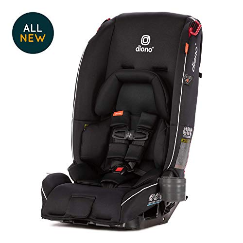 Diono Radian 3RX, All-in-One Convertible Car Seat, Extended Rear-Facing 5-45 lbs, Forward-Facing to 65 lbs, Booster to 120 lbs, Fits 3 Seats Across, Black