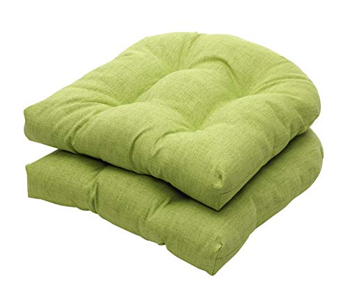Pillоw Pеrfеct Premium Indoor/Outdoor Green Tetured Solid Wicker at Cushions, 2-Pack ()