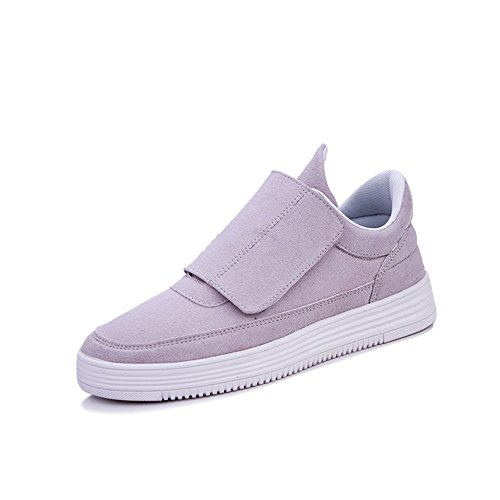 Men's Shoes Feifei Spring and Autumn Movement Leisure Breathable Comfortable Tide Shoes 3 Colors (Color : Gray, Size : EU42/UK8.5/CN43)