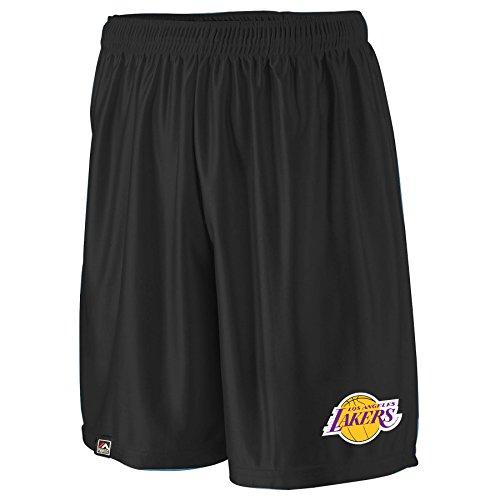 Los Angeles Lakers Team Fleece (NBA Los Angeles Lakers Men's B&T Poly Fleece Team Shorts, 2X, Black)