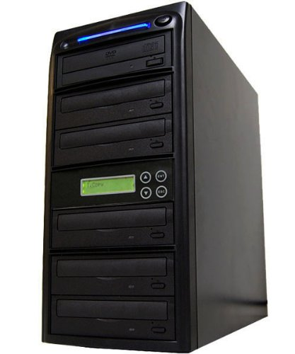 DVD Duplicator built-in 24X Burner (1 to 5) by Bestduplicator by BestDuplicator
